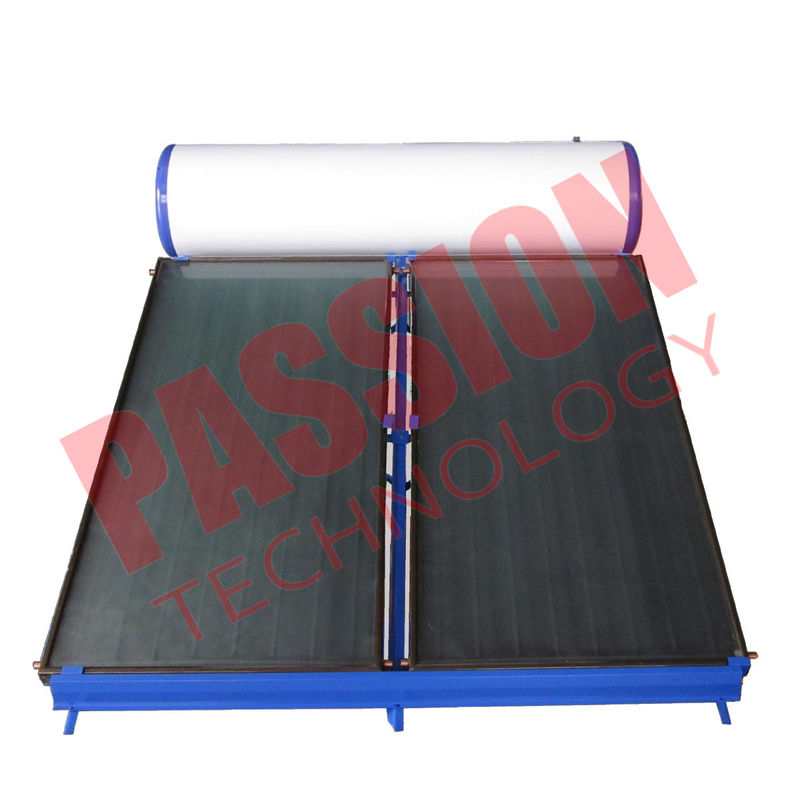 Vertical Type Thermal Solar Water Heater For Pool Black Chrome Coating