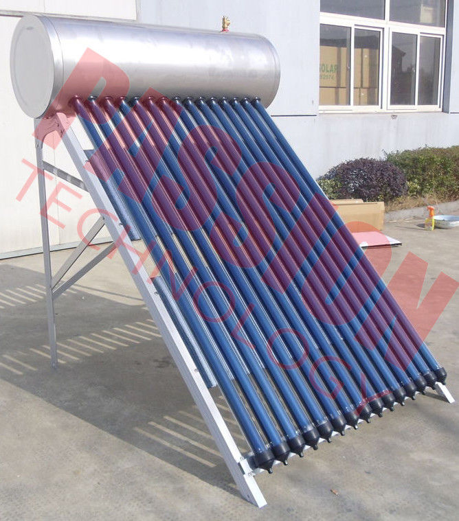 Stainless Steel Anti Freezing Heat Pipe Solar Water Heater With Intelligent Controller