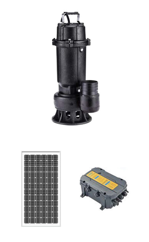 DC Brushless Submersible Solar Pv Water Pumping System For Garden Fountain