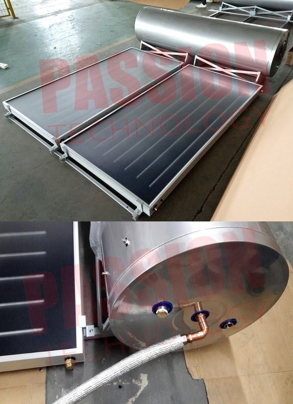 250L 316 Stainless Steel Flat Plate Solar Water Heater Blue Coating Flat Collector